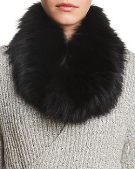 Surell - Fox Fur Infinity Loop Scarf