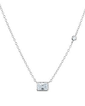 """AQUA - Radiant Pendant Necklace in 18K Rose Gold Tone-Plated Sterling Silver or Platinum-Plated Sterling Silver, 14"""" - 100% Exclusive"""