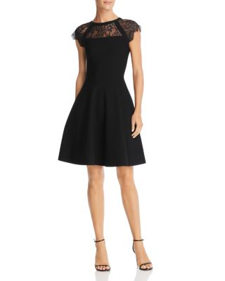 Lace Inset Knit Dress by Milly