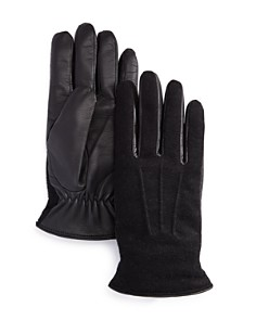 The Men's Store at Bloomingdale's - Wool-and-Leather Tech Gloves - 100% Exclusive