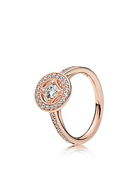 Pandora - Vintage Allure Rose Gold Tone-Plated Sterling Silver Ring