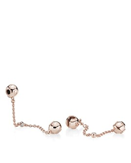 Pandora - Embossed Hearts Rose Gold-Tone Chain Charm