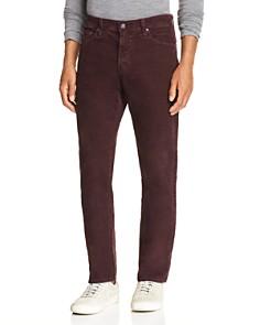 AG - Slim Fit Corduroy Jeans in Sulfur Rich Carmine