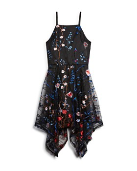 Miss Behave - Girls' Prudence Embroidered Floral Mesh Dress - Big Kid