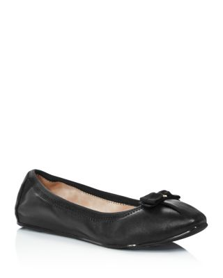 Women's Joy Almond Toe Nappa Leather Ballet Flats by Salvatore Ferragamo