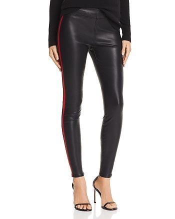 BLANKNYC - Track Stripe Faux Leather Pants