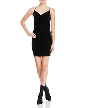 fc93d3b0 AQUA - Velvet Open-Back Dress - 100% Exclusive ...
