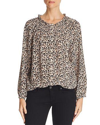 392121ed3365d Rebecca Taylor - Leopard-Printed Silk Top