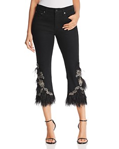 Kobi Halperin - Amy Embellished Crop Jeans in Black
