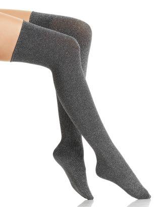Joan Metallic Over The Knee Socks by Wolford