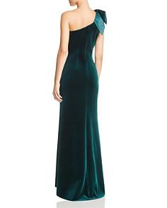 Eliza J - One-Shoulder Velvet Gown