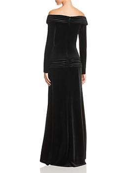 Tadashi Shoji - Off-the-Shoulder Velvet Gown