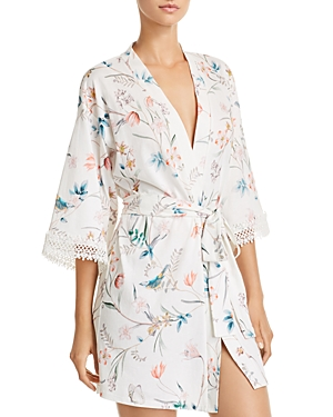 Flora Nikrooz IRENE FLORAL KNIT COVER-UP ROBE