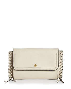 7be579e29555 Annabel Ingall - Emma Oversize Whipstitch Leather Clutch ...