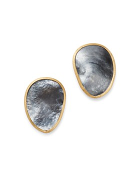 Marco Bicego - 18K Yellow Gold Lunaria Black Mother of Pearl Stud Earrings