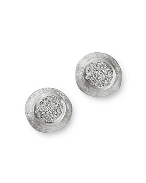 Marco Bicego 18K White Gold Delicati Jaipur Diamond Stud Earrings-Jewelry & Accessories