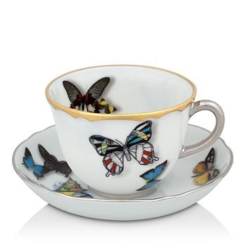 Vista Alegre - Butterfly Parade by Christian Lacroix Coffee Cup & Saucer