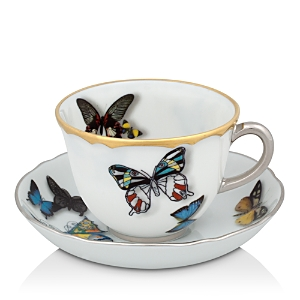 Vista Alegre Butterfly Parade by Christian Lacroix Espresso Cup & Saucer