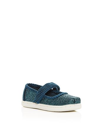 TOMS - Girls' Marjan Glitter & Corduroy Mary-Jane Flats - Infant, Walker, Toddler