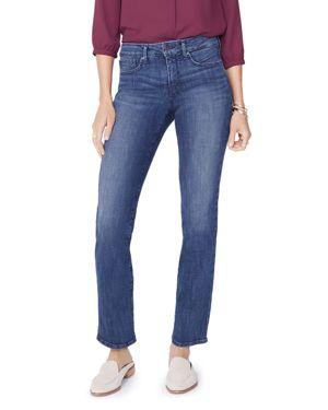 NYDJ Marilyn Tummy-Control Straight-Leg Jeans in Lupine