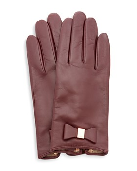 Ted Baker - Betanie Bow Detail Leather Gloves