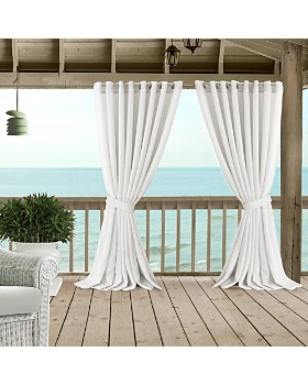 Elrene Home Fashions - Carmen Sheer Indoor/Outdoor Tieback Curtain Collection