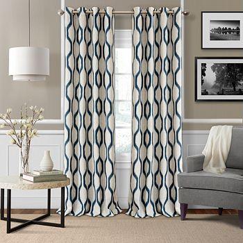 "Elrene Home Fashions - Renzo Blackout Window Panel, 52"" x 84"""