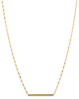 "Moon & Meadow - 14K Yellow Gold Bar Necklace, 18"" - 100% Exclusive"
