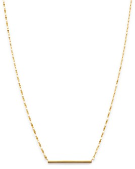 """Moon & Meadow - 14K Yellow Gold Bar Necklace, 18"""" - 100% Exclusive"""