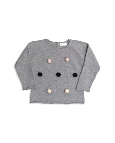 Tun Tun - Girls' Knit Pom-Pom Sweater - Baby