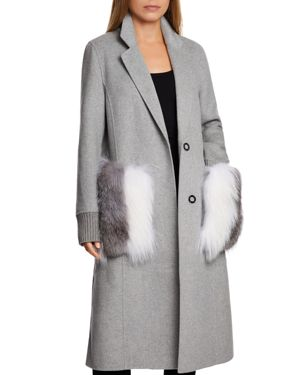 Dawn Levy Natalie Fur Pocket Coat