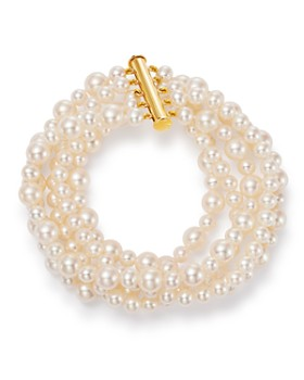4c977c3c3 Bloomingdale's - Cultured Freshwater Pearl Five Strand Bracelet - 100%  Exclusive ...
