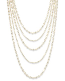 """Bloomingdale's - Cultured Freshwater Pearl Five Row Necklace, 16""""-30"""" - 100% Exclusive"""