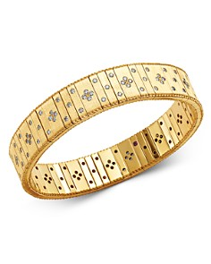 Roberto Coin - 18K Yellow Gold Princess Diamond Double Row Bracelet