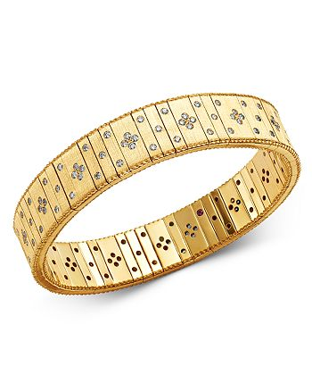 Roberto Coin - 18K Yellow Gold Princess Diamond Double Row Bracelet