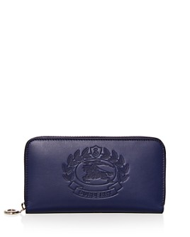 Burberry - Two-Tone Leather Continental Zip Wallet