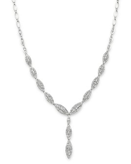 Bloomingdale's - Diamond Cluster Y Necklace in 14K White Gold, 4.90 ct. t.w. - 100% Exclusive