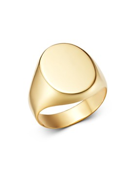 Moon & Meadow - 14K Yellow Gold Oval Signet Ring - 100% Exclusive