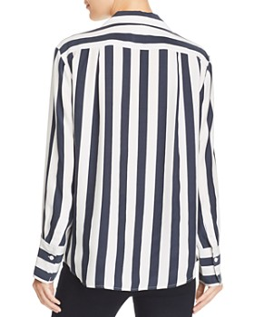 FRAME - Striped Silk Blouse