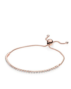 Pandora Rose Gold Tone Plated Sterling Silver Slider Bracelet