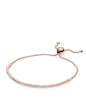 PANDORA - Rose Gold Tone-Plated Sterling Silver Slider Bracelet