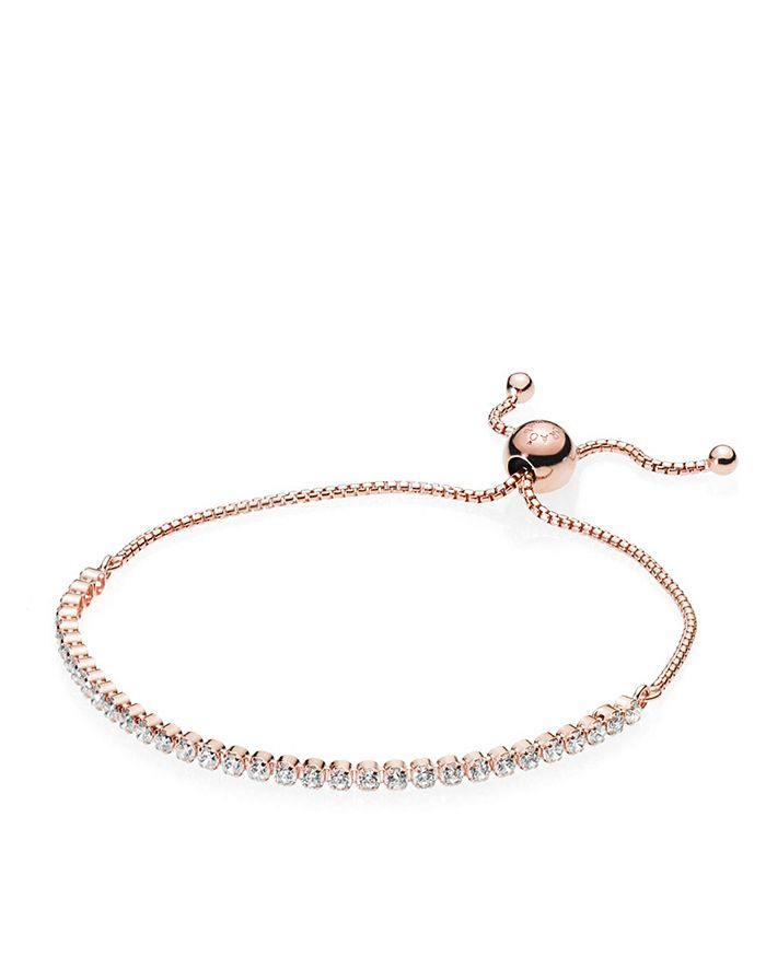 368482d668945 Rose Gold Tone-Plated Sterling Silver Slider Bracelet