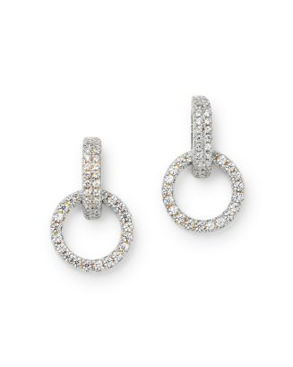 Diamond Circle Drop Earring In 14 K White Gold, 0.25 Ct. T.W.   100% Exclusive by Bloomingdale's