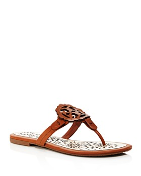 c85c0116f Tory Burch - Women s Miller Scallop Leather Thong Sandals ...