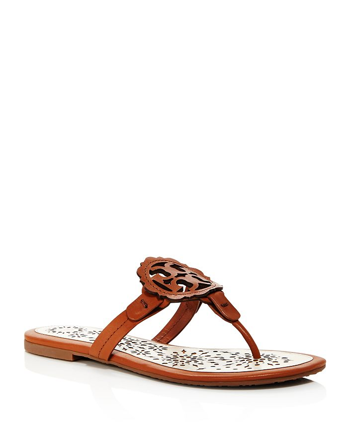 00983a861fb Tory Burch - Women s Miller Scallop Leather Thong Sandals