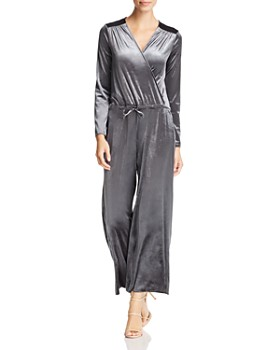 3152e3839afd Three Dots - Stretch Velvet Crossover Jumpsuit ...