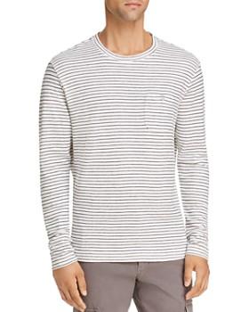 Michael Bastian - Striped Knit Crewneck Shirt