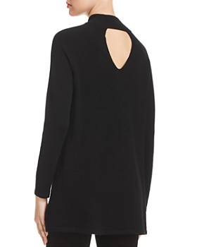 Eileen Fisher Petites - Cashmere Mock-Neck Tunic Sweater - 100% Exclusive