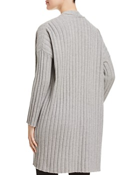 Eileen Fisher - Ribbed Open-Front Cardigan - 100% Exclusive