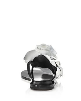 Sophia Webster - Women's Jumbo Lilico Flower Open Toe Leather & Suede Slide Sandals